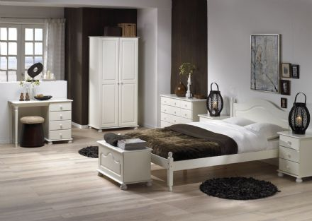 CARLTON 4'6 LOW FOOT END BED WHITE